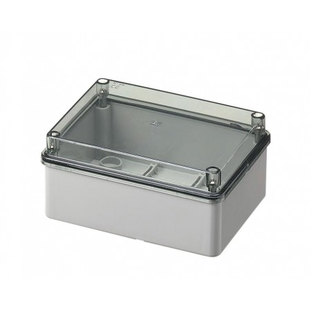 Smooth sided box IP56 transparent lid 150 x 110 x 70 mm