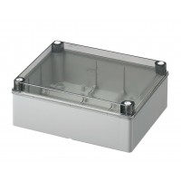 Smooth sided box IP56 transparent lid 240 x 190 x 90 mm