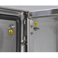 stainless steel enclosure size 200 x 300 x 150 mm (b x h x d)