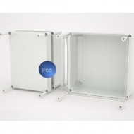 Polyester box with closed cover, 540 x 540 x 205 mm
